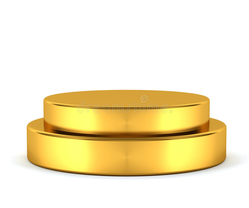Golden pedestal - winner royalty free stock photos
