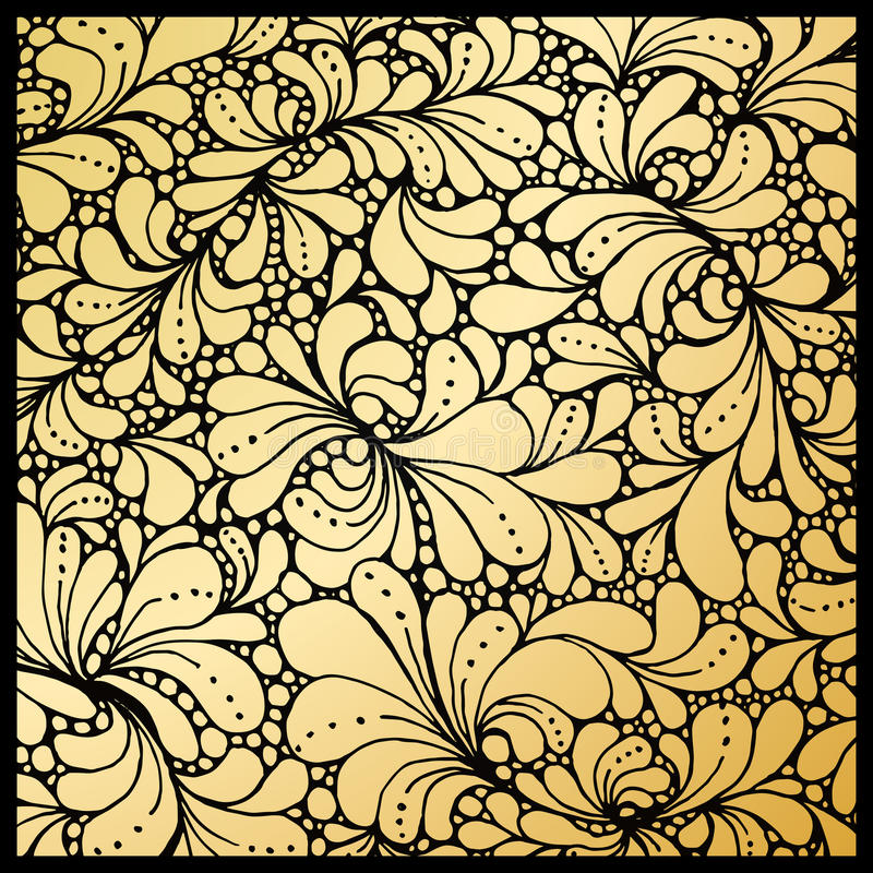 Free Golden Petals Or Floral Leafs Ornament, Paisley Wallpaper Stock Photo - 82640330