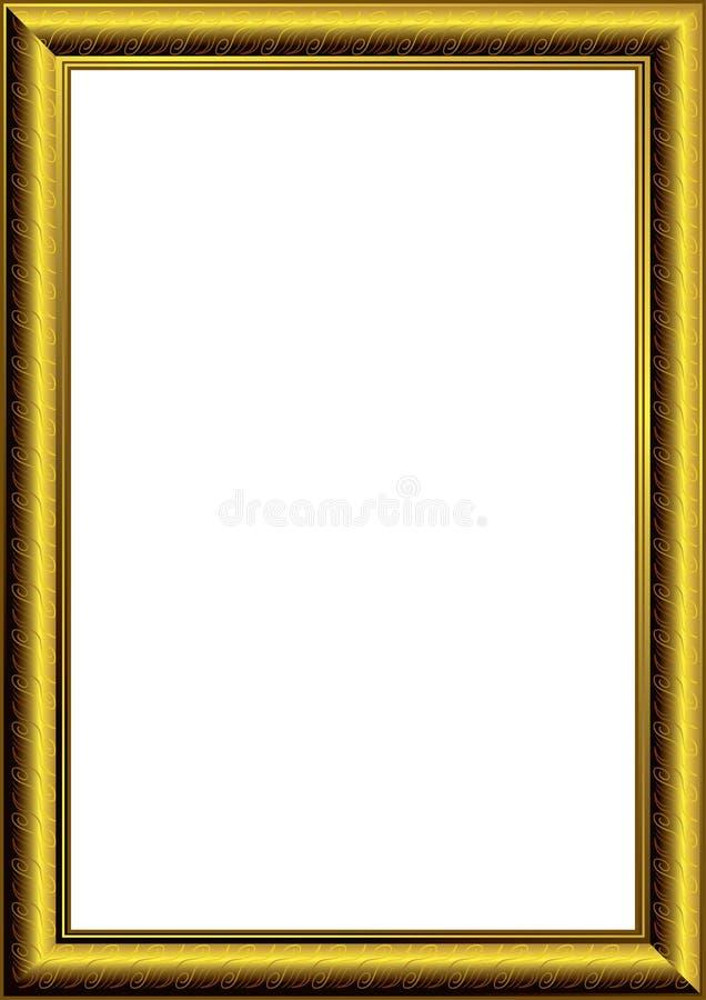 Download Golden photo frame stock vector. Illustration of decoration - 14609761