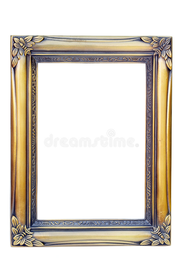 Golden photo frame royalty free stock photography