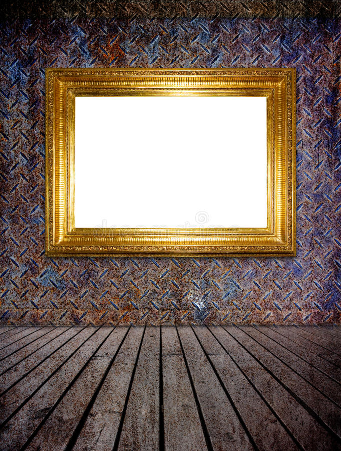Download Golden Photo Frame (clipping Path) Stock Illustration - Image: 15966250