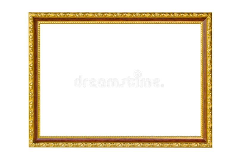 Golden photo Frame stock images