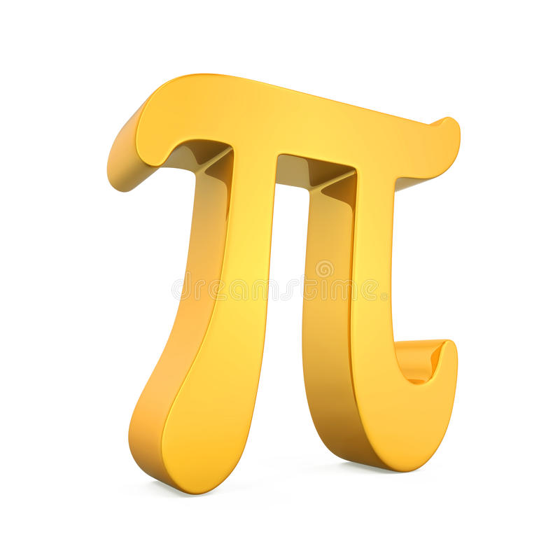 Golden Pi Symbol Stock Illustration Illustration Of Math 81770361