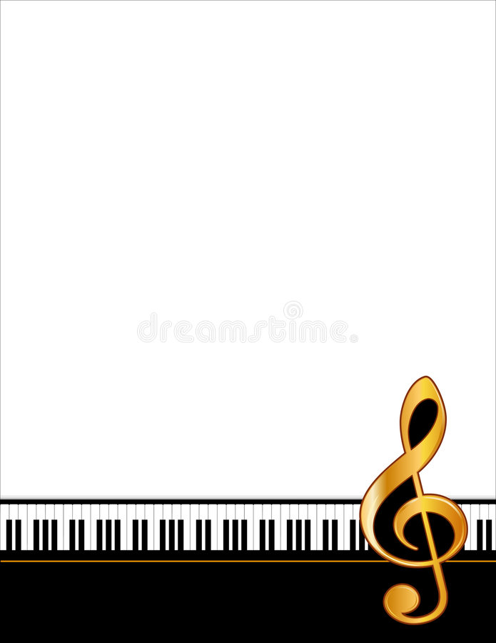 golden piano poster 向量例证