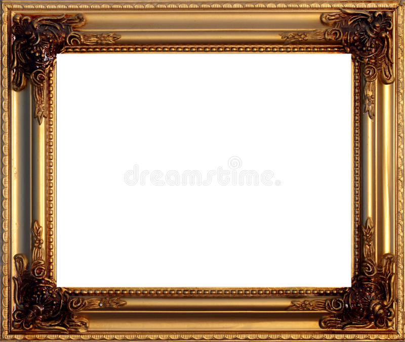 Download Golden picture frame stock photo. Image of blank, decorate - 16169562
