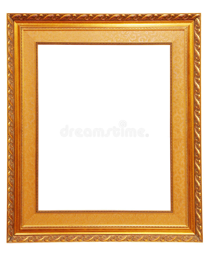 Golden Picture Frame Stock Photos