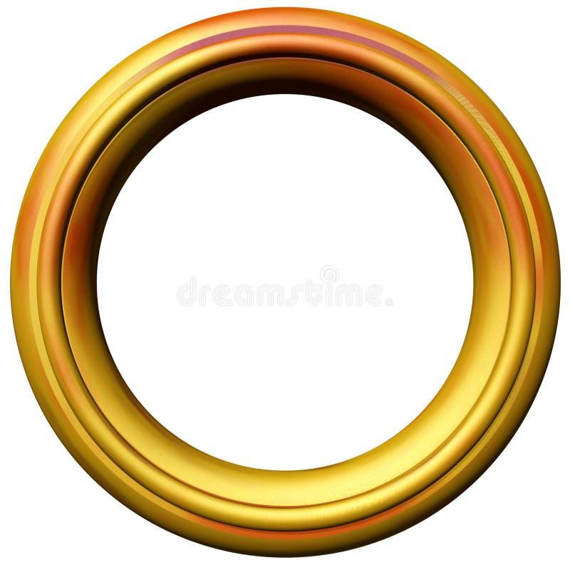 Golden Picture Frame stock illustration
