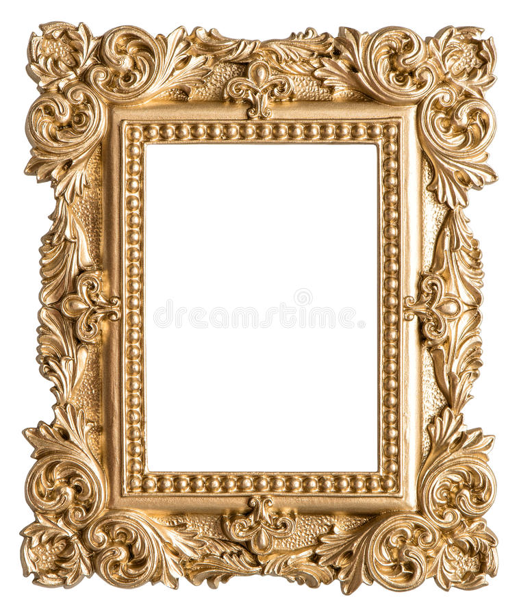 Golden picture frame baroque style vintage art object for Small vintage style picture frames