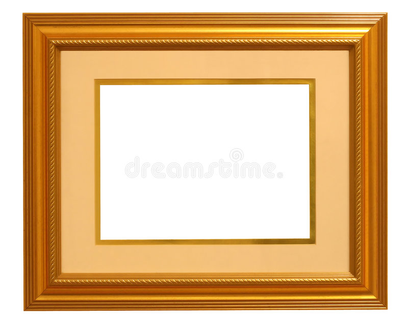 Golden Picture Frame With Mat Stock Photo - Image of ornate, yellow ...
