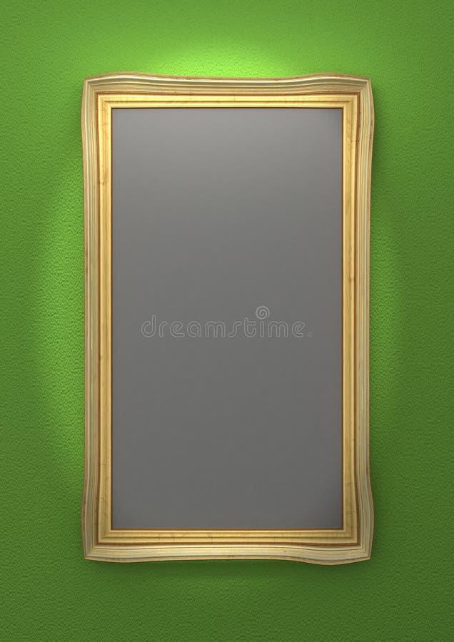 Download Golden Picture Frames stock illustration. Illustration of wooden - 25454385