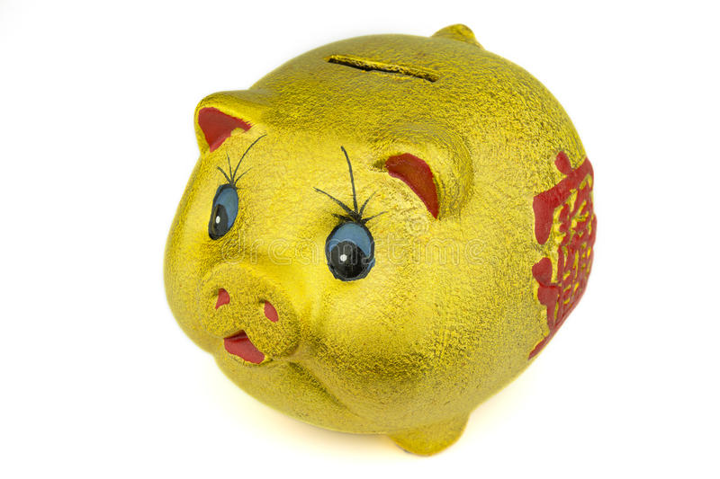 Download Golden Piggy Bank stock image. Image of investment, piggy - 19043947