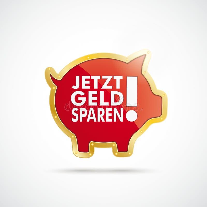Free Golden Piggy Bank Jetzt Geld Sparen Royalty Free Stock Photos - 41707208