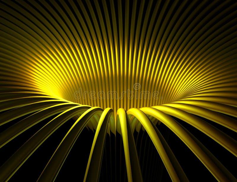 Golden pipelines vector illustration