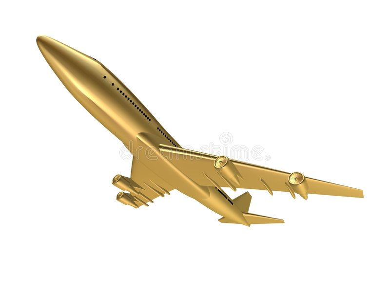 Golden plane royalty free stock images