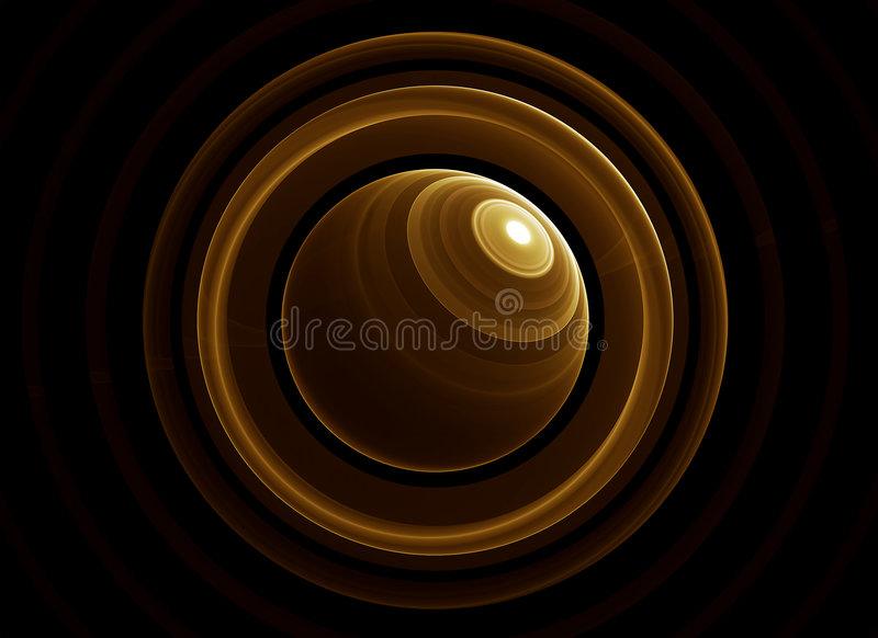 Download Golden planet and rings stock illustration. Illustration of orbs - 7078555