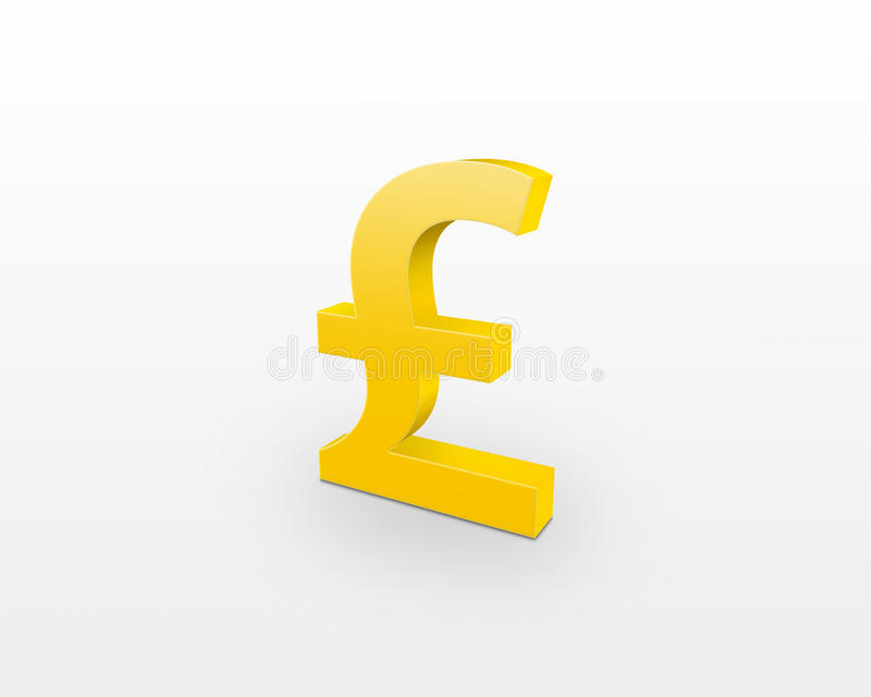 Download Golden pound sign stock illustration. Image of currency - 10783989