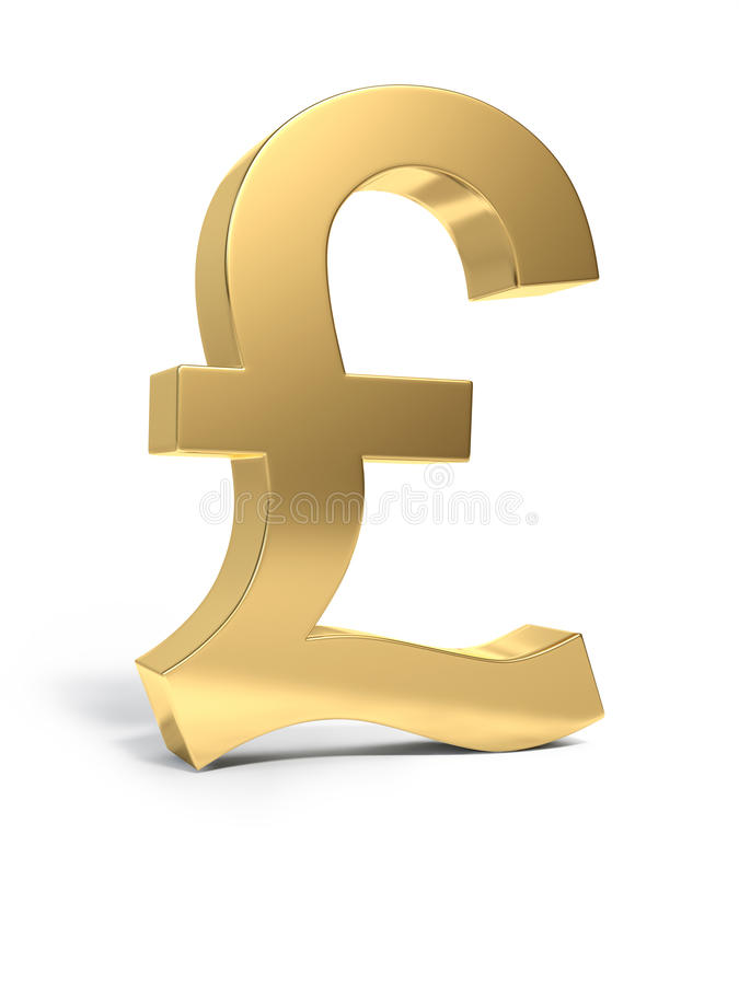 Download Golden Pound sign stock photo. Image of currency, single - 9409682