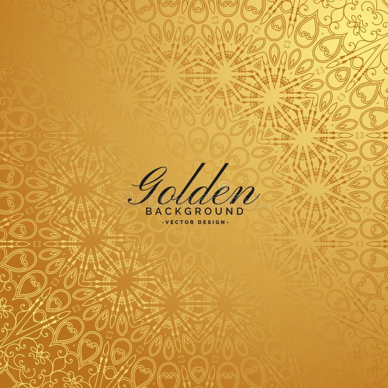 Golden premium background with pattern design royalty free illustration