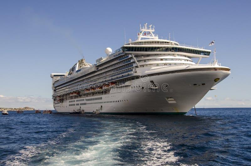 GOLDEN PRINCESS CRUISE SHIP royalty free stock images
