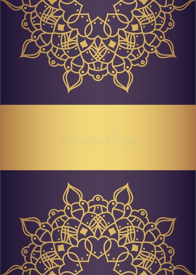 Golden and purple luxury card design vector illustration
