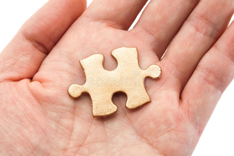 Download Golden Puzzle stock image. Image of concepts, jigsaw - 22512211