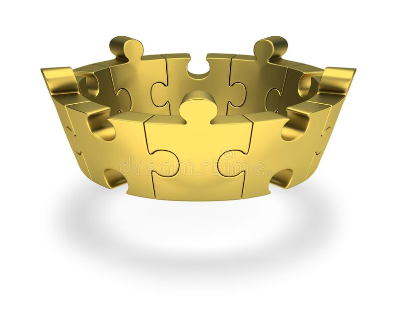 Puzzle crown royalty free illustration