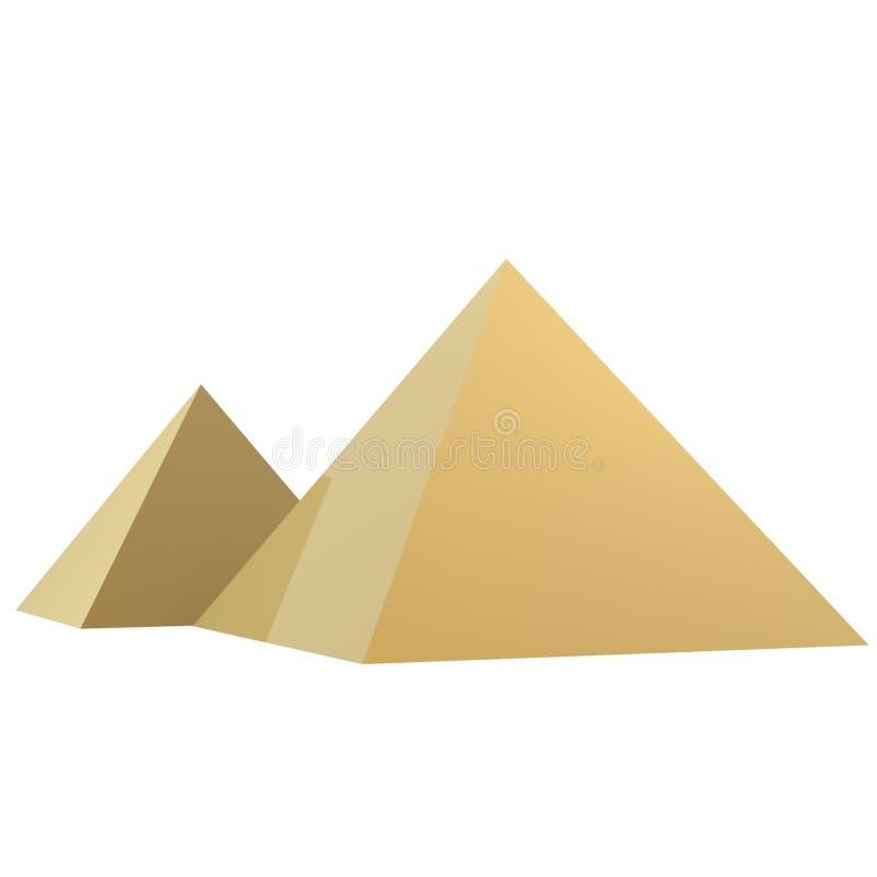 Download Golden pyramids stock illustration. Illustration of egypt - 748325