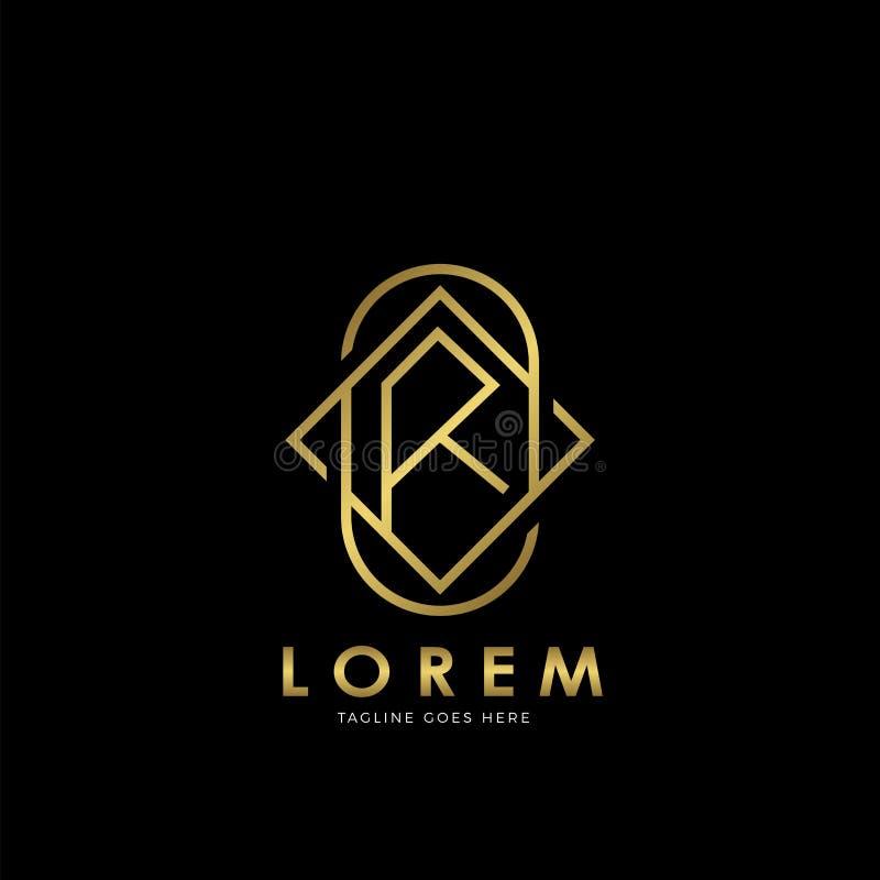 Letter K Feather Logo Template:  Letter T Logo Gold Luxury Boutique Badge Decorative Ornate
