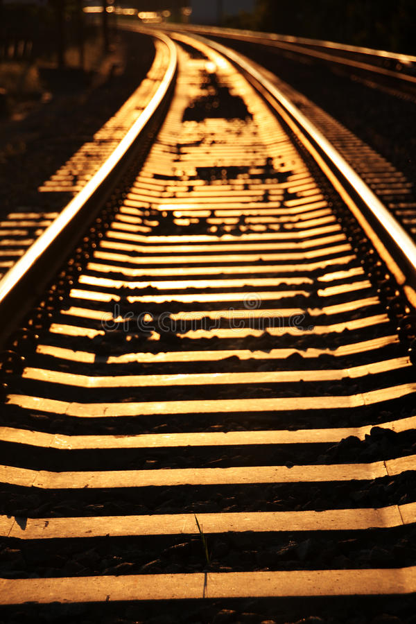 Golden rails royalty free stock images
