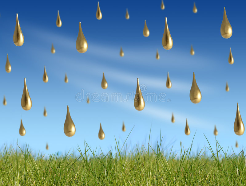 Golden rain stock illustration