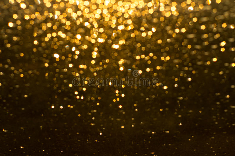 Golden rain stock photo