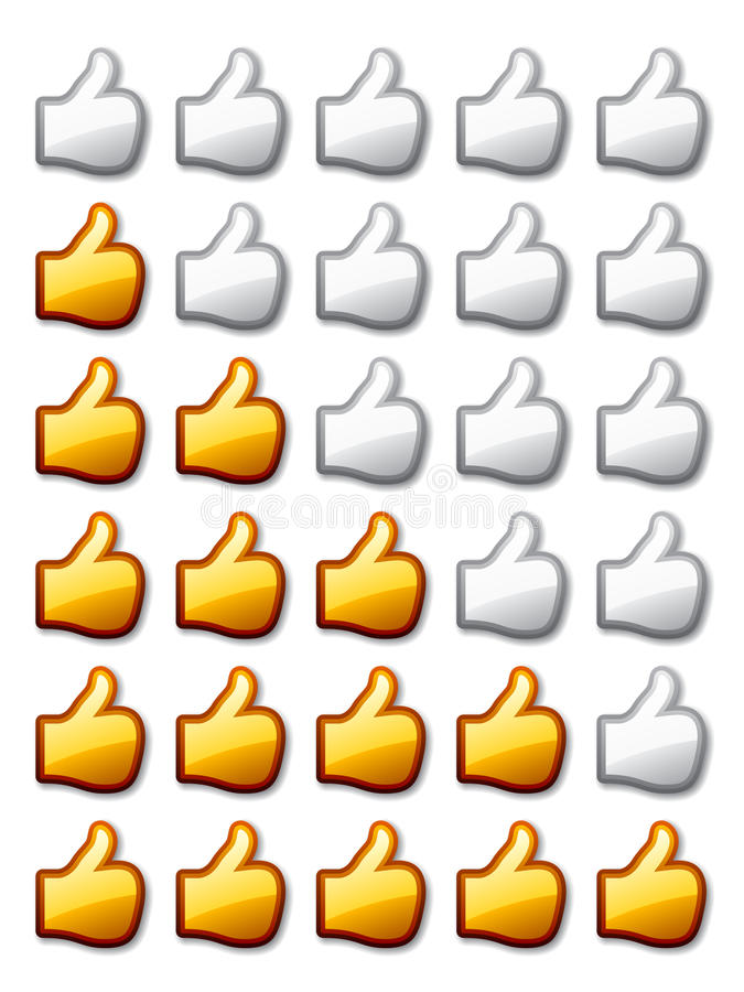 Golden rating thumb up hands. See also my gallery vector illustration