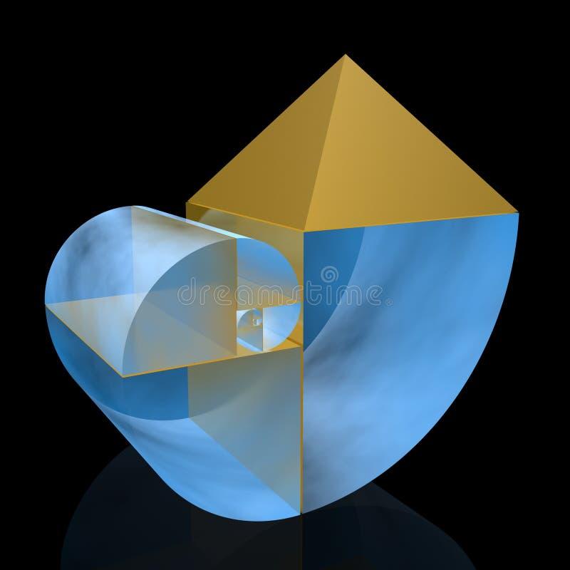 Golden ratio. (high resolution 3D illustration vector illustration