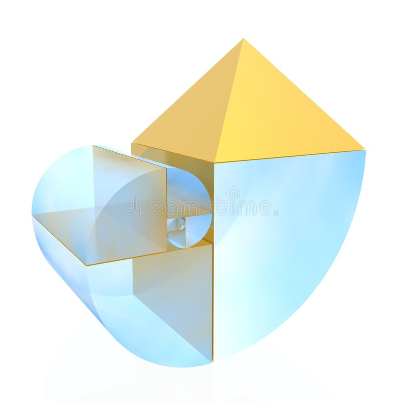 Golden ratio. (high resolution 3D illustration stock illustration