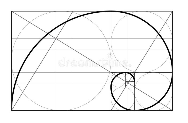 golden ratio cover template stock vector illustration of rh dreamstime com golden ratio logo vector golden ratio vector ai