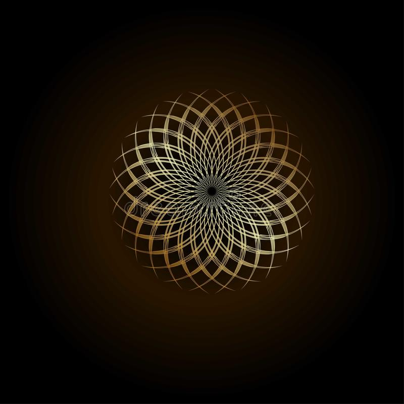 Golden ratio. Logo design on a brown background royalty free illustration