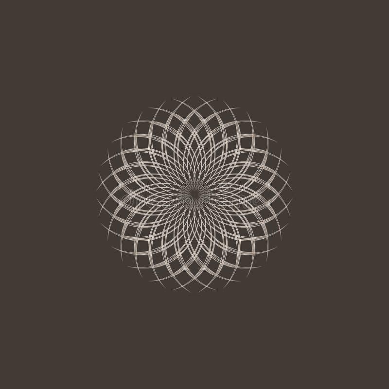 Golden ratio. Logo design on a brown background stock illustration