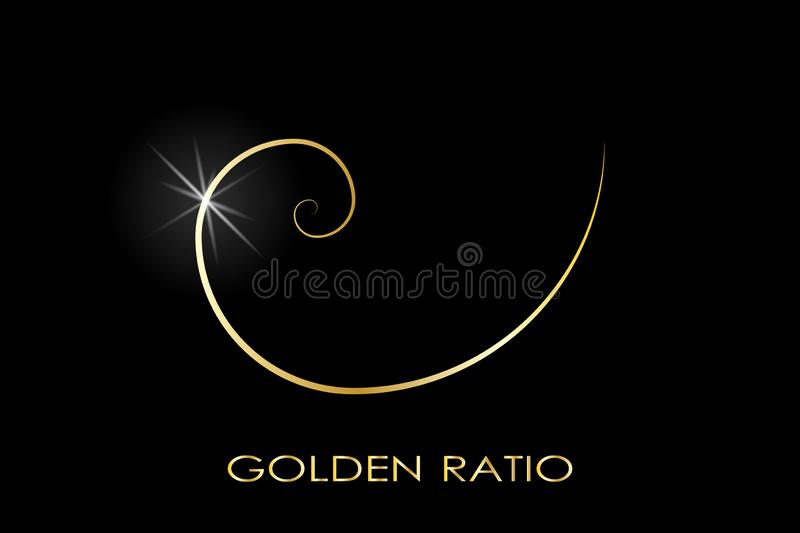 Golden ratio. Logo vector illustration