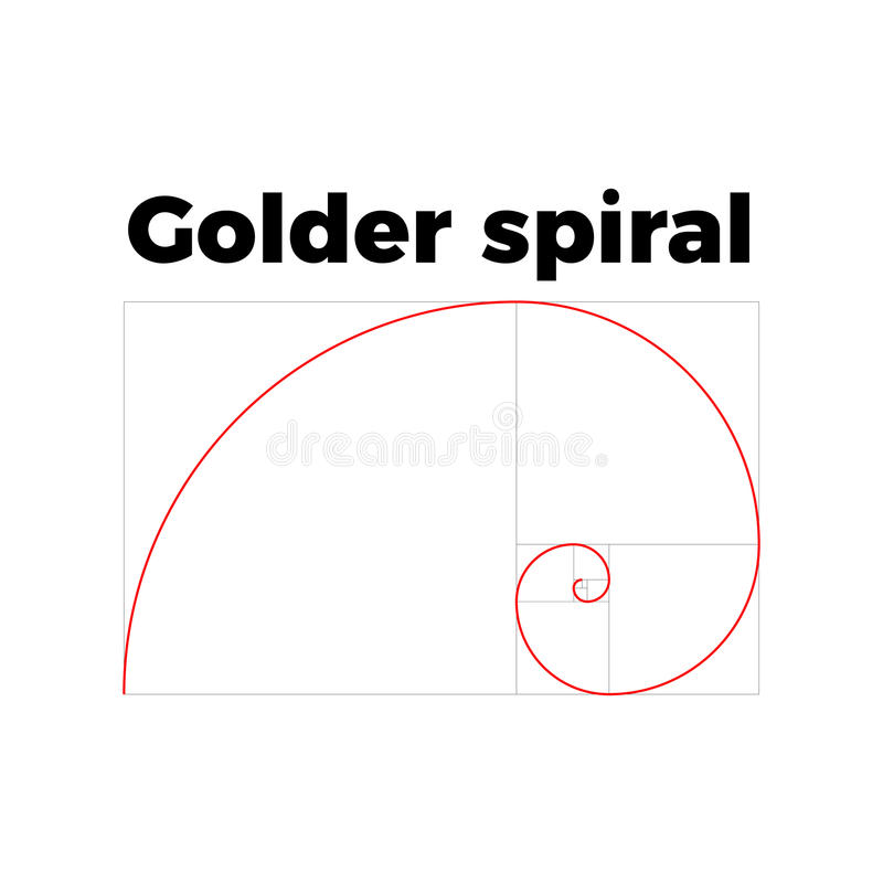 Golden ratio section royalty free illustration