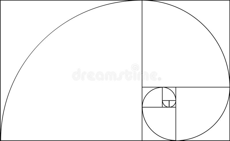 Golden ratio templat stock illustration