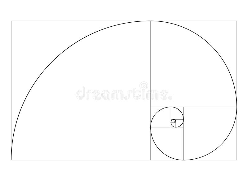 Golden ratio template vector stock illustration