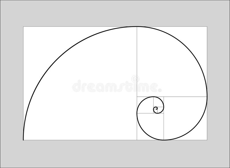 Golden ratio vector vector illustration