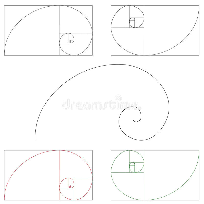 Golden ratio royalty free illustration