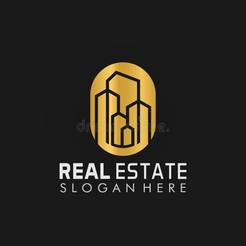 Real Estate Poperty Building Logo Design Vector