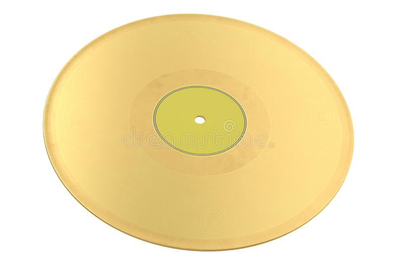 A golden record isolated on white background 3D illustration.  vector illustration