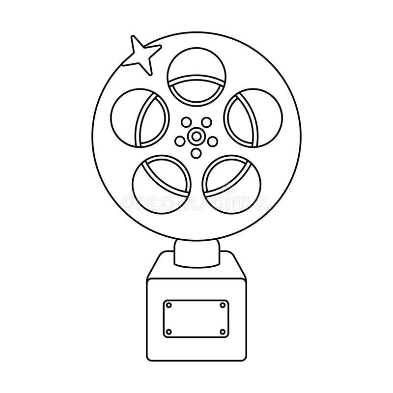 The Golden reel of film.Award for the best playback of the movie.Movie awards single icon in outline style vector symbol. Stock web illustration stock illustration