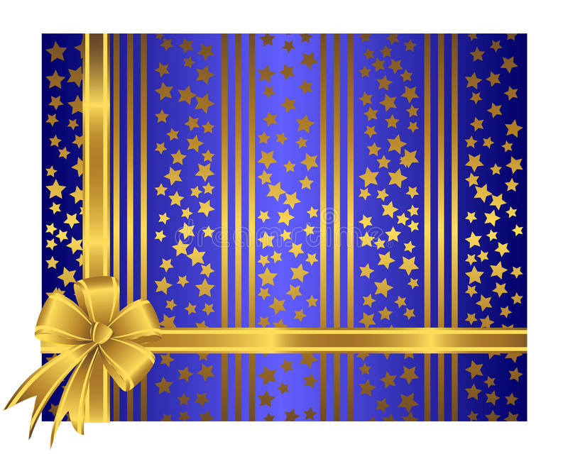 Download Golden Ribbon With Bow. Royalty Free Stock Images - Image: 22404099