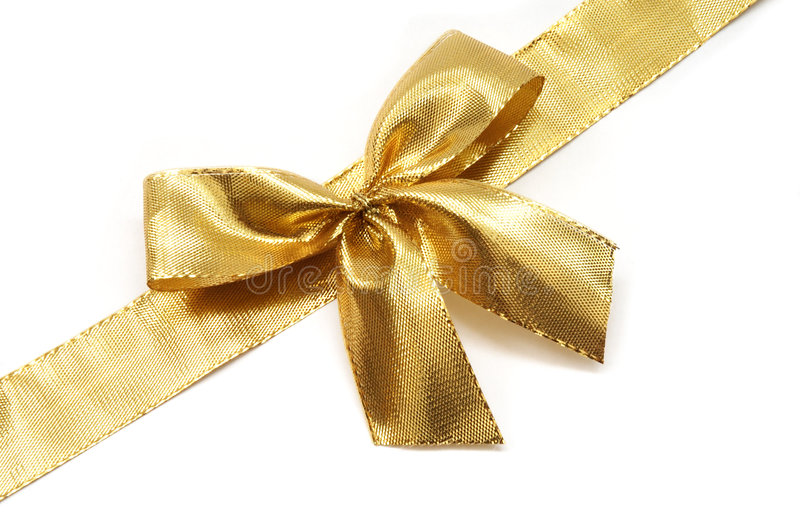 Download Golden ribbon with a bow stock image. Image of event, isolation - 2965701