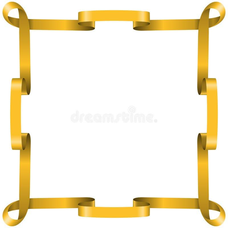 Golden Ribbon Frame Royalty Free Stock Photography