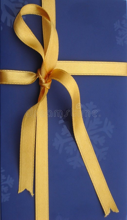Download Golden Ribbon Present Royalty Free Stock Photo - Image: 1722955